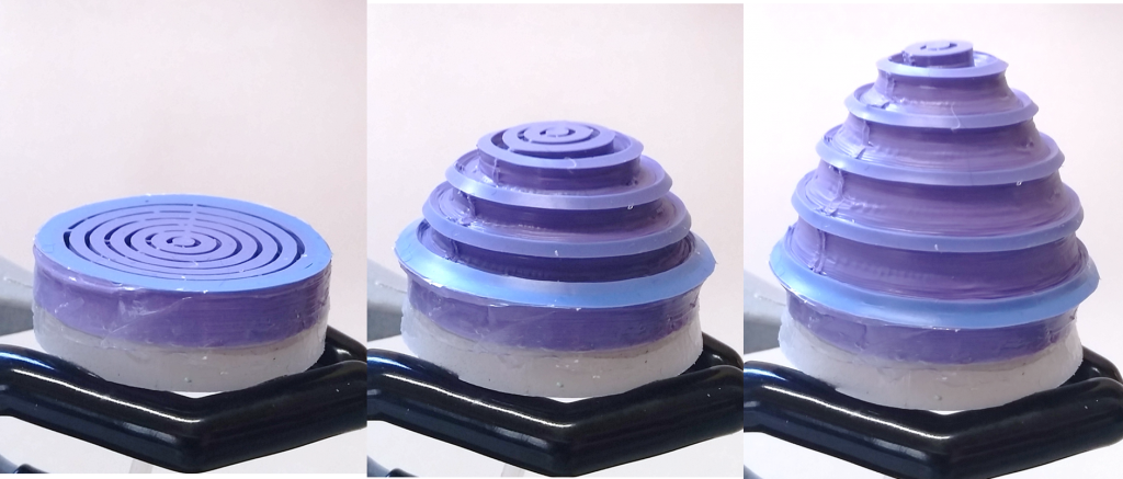 3D printed silicone actuator with shape change ability for Spiked Robot Project